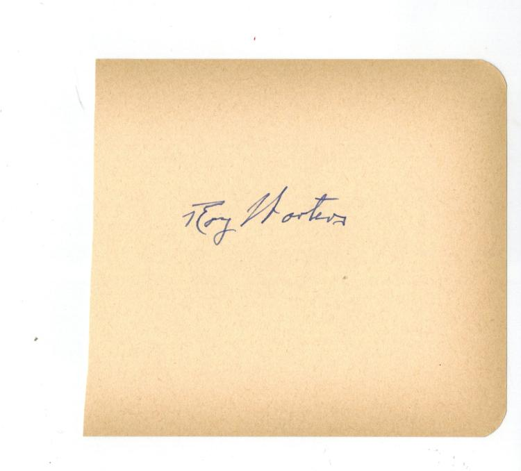 Roy Worters Hand Signed Album Page.....