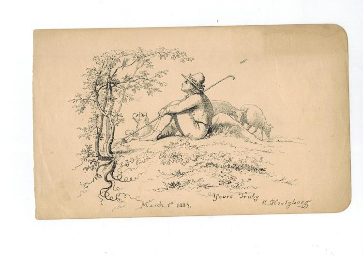Artist Constantine Hertzberg Sketch From 1884