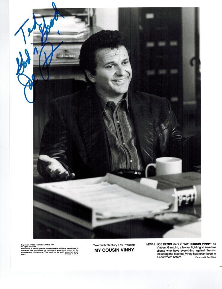 Joe Pesci Hand Signed Photo....Comes With Original Mailing Envelope.