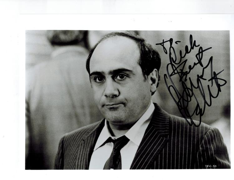 Danny Devito Hand Signed Photo...