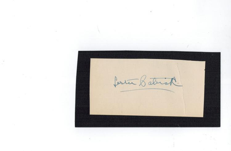 Lester Patrick Hand Signed Album Page....Hockey HOF