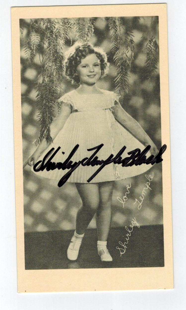 Shirley Temple Hand Signed Vinatge 20th Century Fox Photo