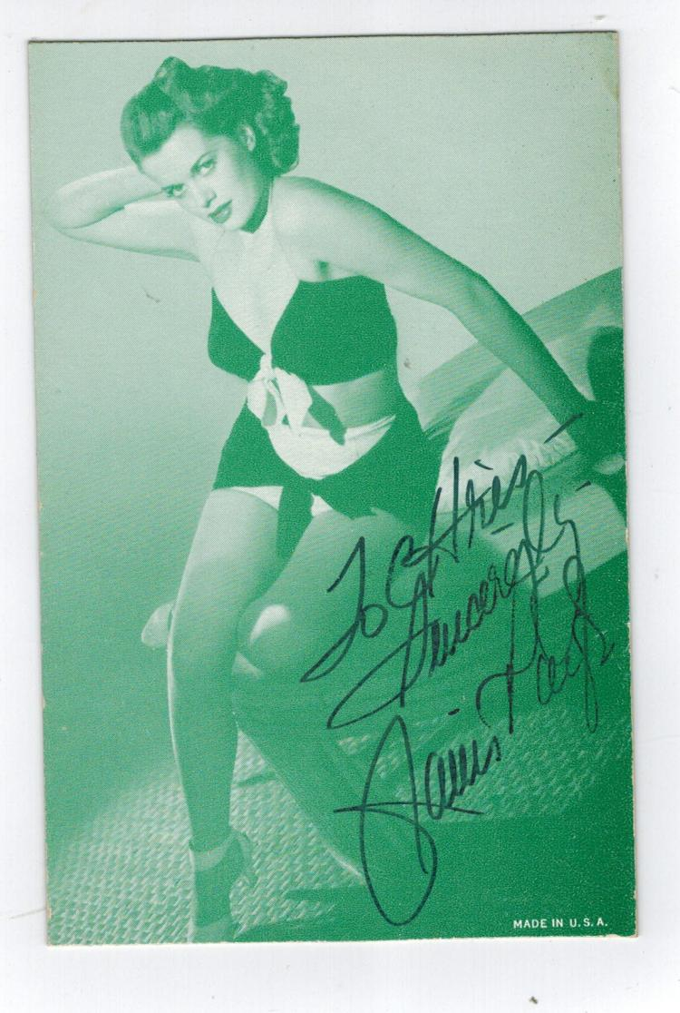 Janis Paige Hand Signed Vintage Arcade Card.