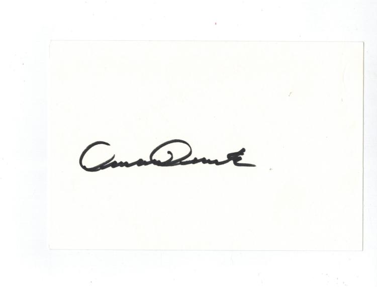 Armand Assante Hand Signed Card.