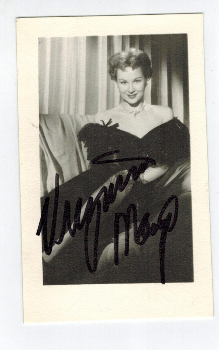 Virginia Mayo Hand Signed Photo....