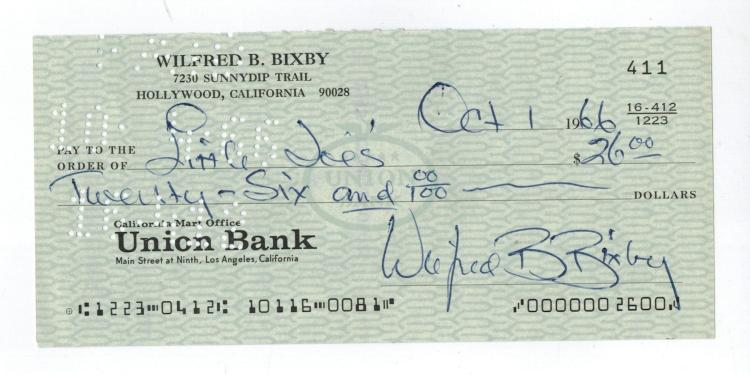 Bill Bixby Hand Signed Photo......