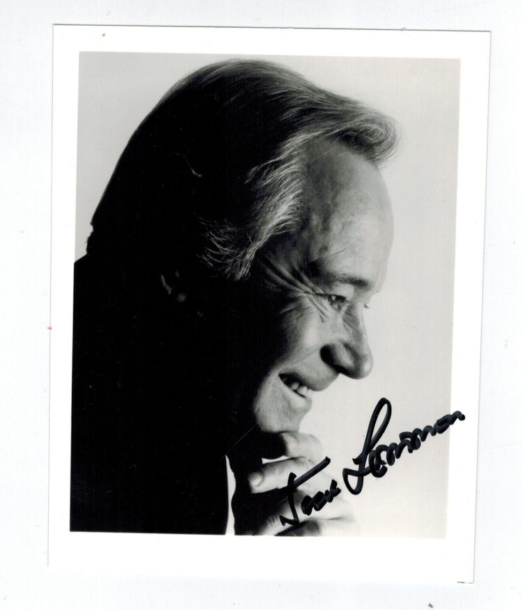 Jack Lemmon Hand Signed Photo.