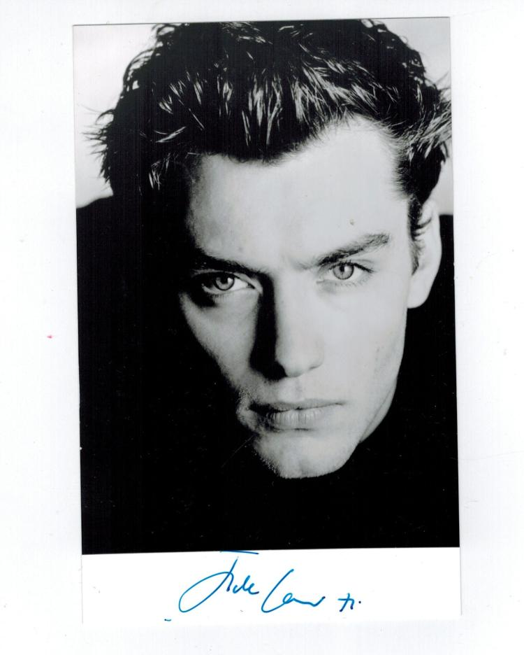 Jude Law Hand Signed Photo.