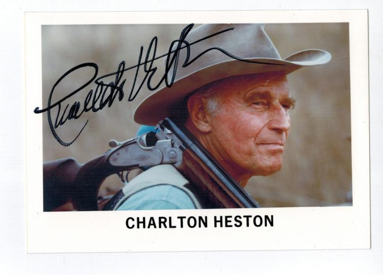 Charlton Heston Hand Signed Photo...