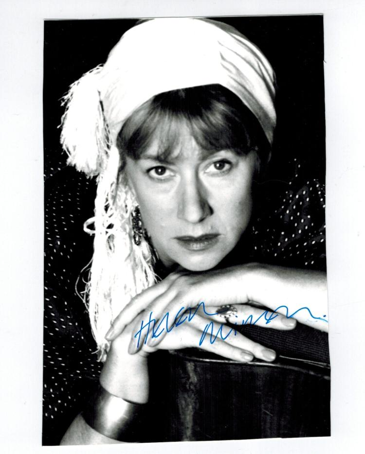 Helen Mirren Hand Signed Photo..