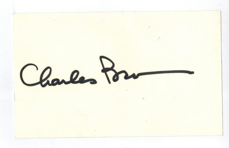 Charles Bronson Hand Signed Card...