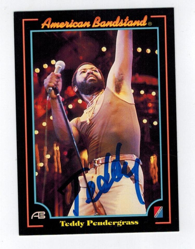 Teddy Pendergrass Hand Signed Trading Card.
