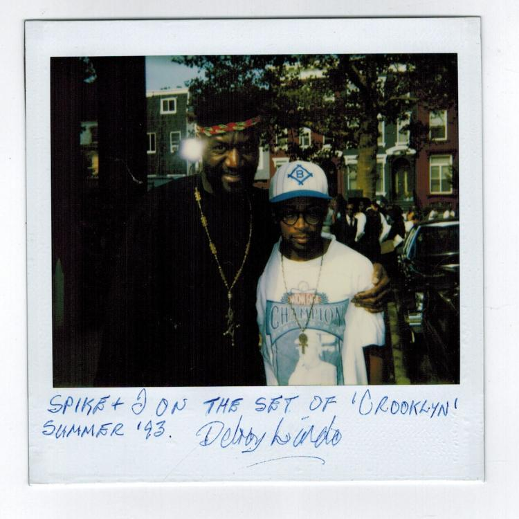 Deloy Lindo Signed Poloraid Photo Pictured With Spike Lee ''Crooklyn''