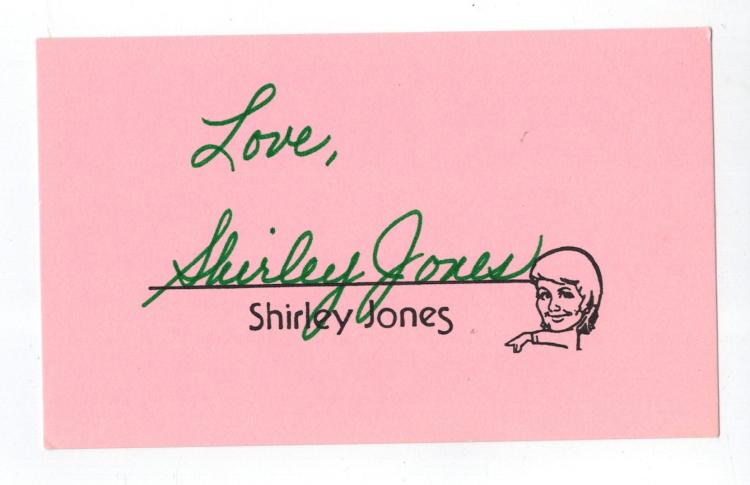 Shirley Jones Hand Signed Card...
