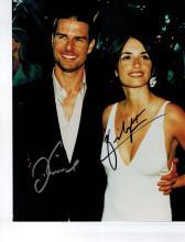 Tom Cruise+Penelope Cruz Hand Signed Photo.
