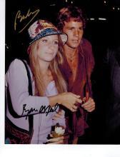 Ryan O'Neal + Barbra Streisand Hand Signed Photo.