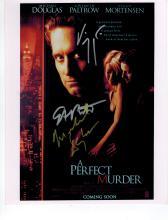 Michael Douglas, Gwyneth Paltrow + Viggo Mortensen Signed Photo.