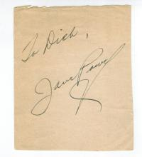 Jane Powell Hand Signed Album Page...