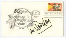 Louis Jourdan Hand Signed First Day Cover...50 Years of Film.