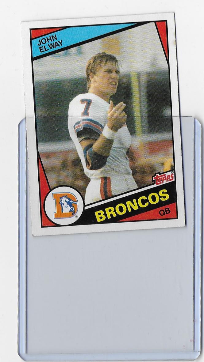 John Elway 1984 Topps Rookie Card 63 Broncos