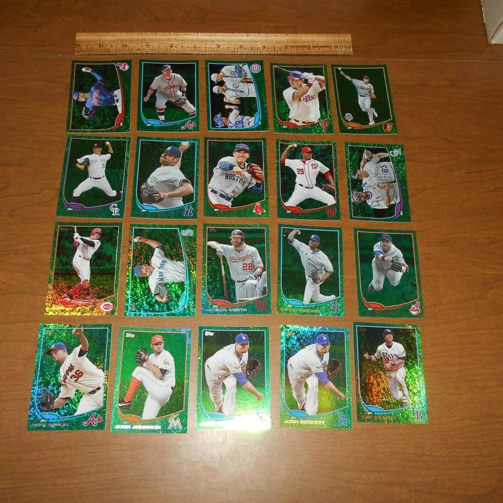 61) 2013 Topps & Update Emerald Foil Sparkle Parallels