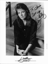 Holly Dunn Hand Signed Black & White Photo