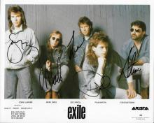 Exile (band) Hand Signed Color Photo