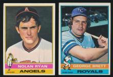 1976 Topps Baseball #330 Nolan Ryan and #19 George Brett