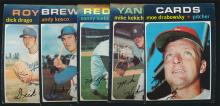 1971 Topps Baseball (5) Double Print High Numbers.