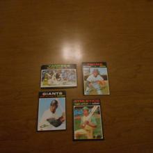 1971 Topps Baseball Cards Jackson, Munson, Tiant, McCovey