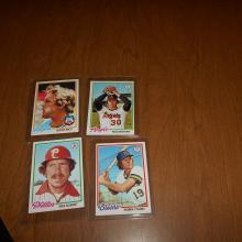 1978 Topps Baseball Cards Brett, Schmidt, Ryan, Yount
