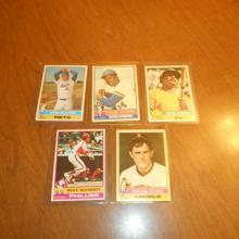 1976 Super Star Baseball Cards Ryan, Schmidt, Jackson, Seaver, Aaron
