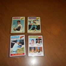 1977 Super Star Lot of 4 Brett, Yount, Ryan, Clark RC,