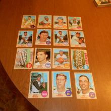 15   1968 Topps Baseball Cards Wills, Pirates Team, Bando, Savage, Angels