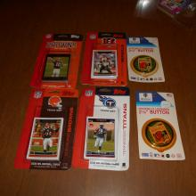 4  Topps Factory Sealed 2006 Browns  Bengals & Titans Team Seats + 07 Browns ++