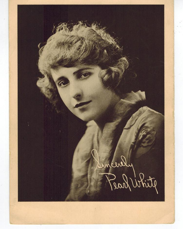 pearl white original publicity photo silent film actress. Black Bedroom Furniture Sets. Home Design Ideas