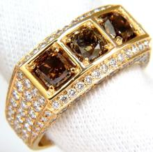 8.25CT MENS RING NATURAL FANCY COLOR DIAMONDS