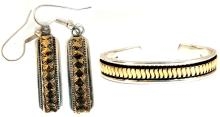 Designer: C. Harrell Dangling earrings & Bangle