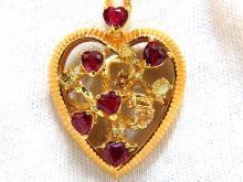 4.75ct natural vivid heart shaped ruby fancy yellow