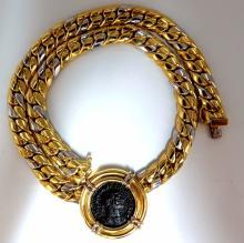 18kt Byzantine Cuban Link Necklace