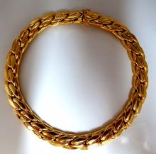 18kt Germany Tight Figaro Gold Necklace 151 grams 13.7m