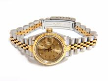 Ladies Rolex Watch Two toned DateJust Jubilee 18kt