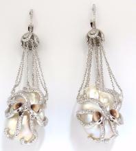GIA Certified 30mm Baroque Pearls Catseye Ocotopus