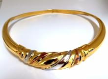 14kt Italy Cable Necklace 16 inch 3D