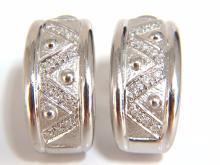 .30ct diamonds semi hoop / huggie diamond earrings 18kt