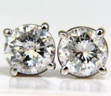 1.30CT BRILLIANT FULL CUT CLASSIC DIAMOND STUD EARRINGS