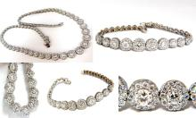 13.08CT NATURAL DIAMONDS BRACELET & NECKLACE CLUSTER