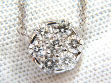1.00ct (7) Diamond cluster necklace g/vs 14kt. 18 inch