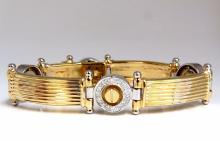 Mens 1.77ct natural diamonds screw bolt grill bracelet