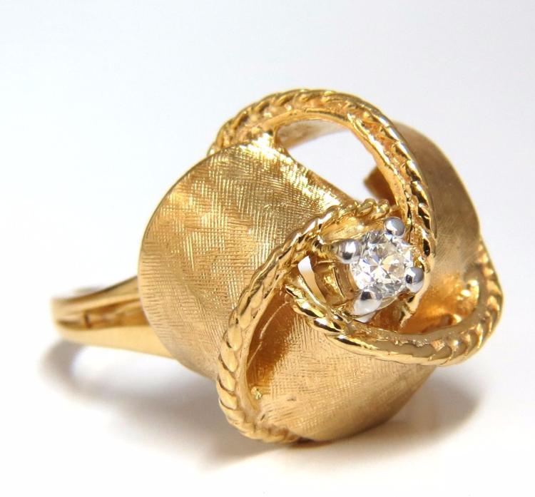 10ct diamonds vintage bow tie ring 14kt